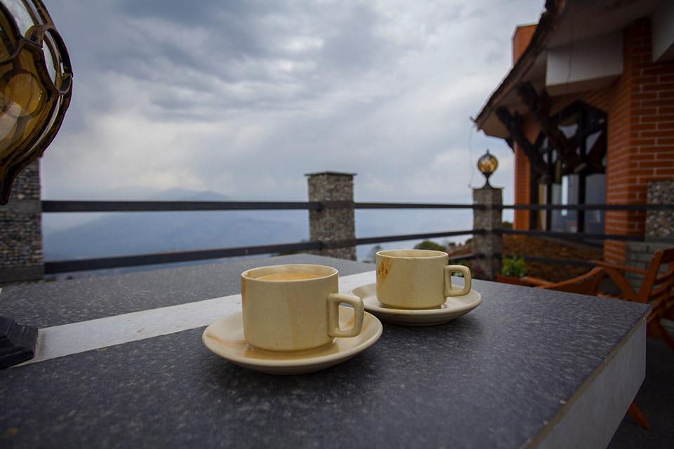 Tea on a top of a hill